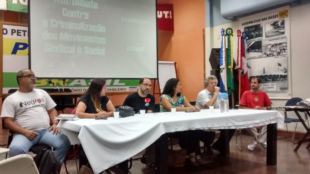Ato/Debate contra a criminalização dos Movimentos Sindical e Social - Rio de Janeiro