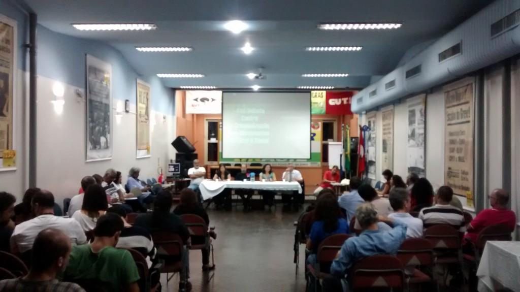 Ato/Debate contra a criminalização dos Movimentos Sindical e Social.