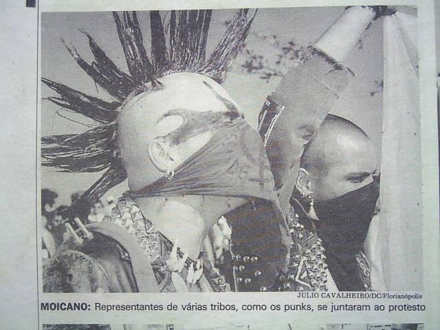 Protesto Anarco Punk durante o 7 de setembro em Florianópolis (1997)