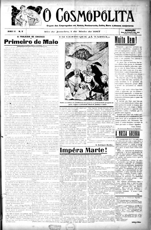 O Cosmopolita, Rio de Janeiro, número 9, 1º de maio de 1917. Acervo do AMORJ, coleção ASMOB.