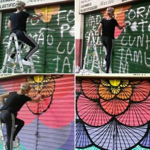 1° Grafite feita em repúdio as mensagens de ódio