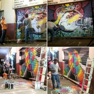 2° grafite feita em repúdio as mensagens de ódio